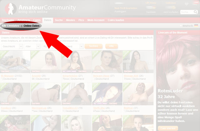Echte Dates bei Amateurcommunity.com?